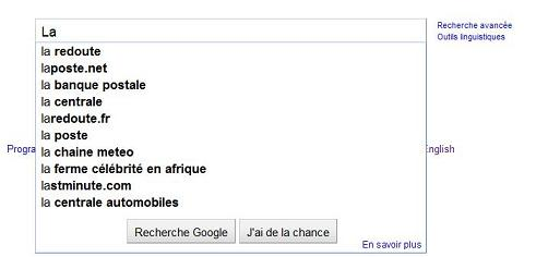 Paradigme Google Suggest