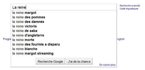Google suggest paradigme